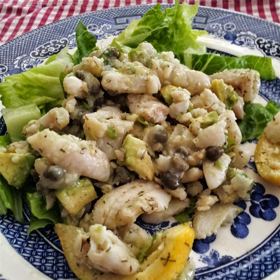 Tilapia and Avocado Salad