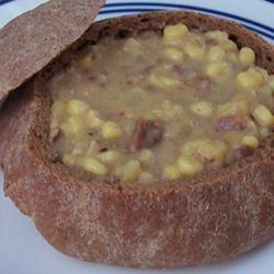 Potato, Bacon, and Corn Chowder pomplemousse