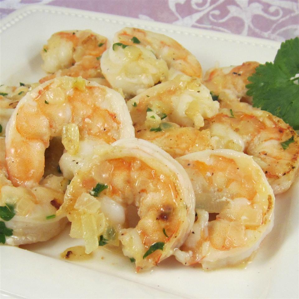 Garlic, Cilantro, and Lime Sauteed Shrimp