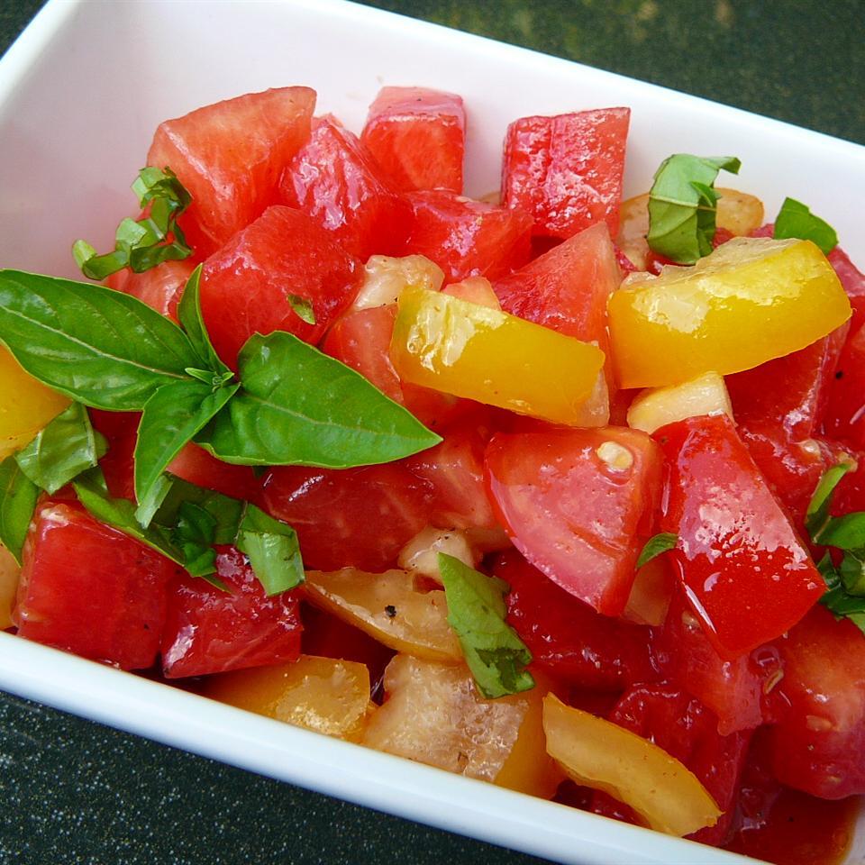 Spicy Watermelon Tomato Salad Molly