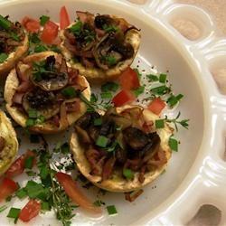 Garlicky Mushroom Toast Cups Kathy Midkiff Goins
