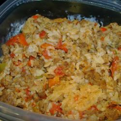 Spicy Sausage and Rice Casserole
