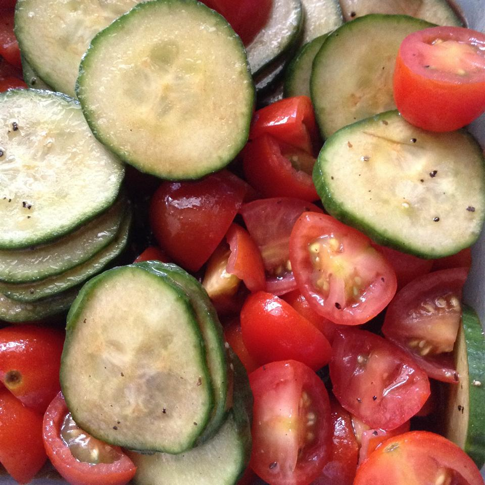Cool Summer Cucumber and Tomato Toss