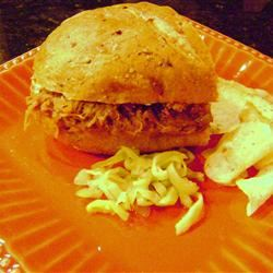 Slow Cooker Barbequed Pork for Sandwiches Nandabear