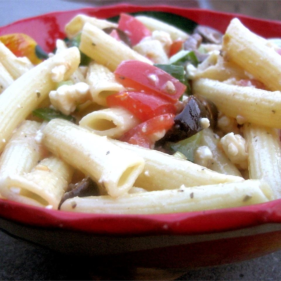Vegetarian Greek Pasta Salad SunFlower