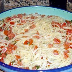Summer Pasta with Basil, Tomatoes and Cheese Joe and Jill