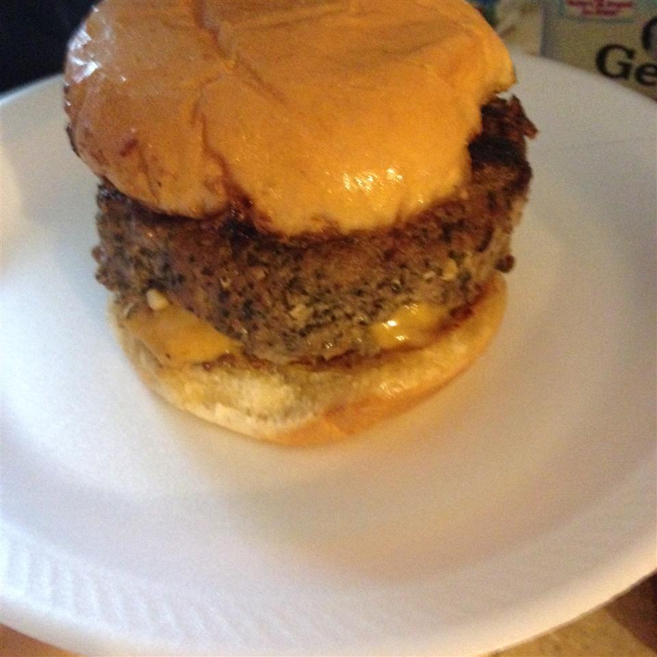 Grilled Gorgonzola-Basil Burgers Kayla Thibodeaux