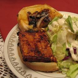 Barbecue Tofu Sandwiches KitchenWitch