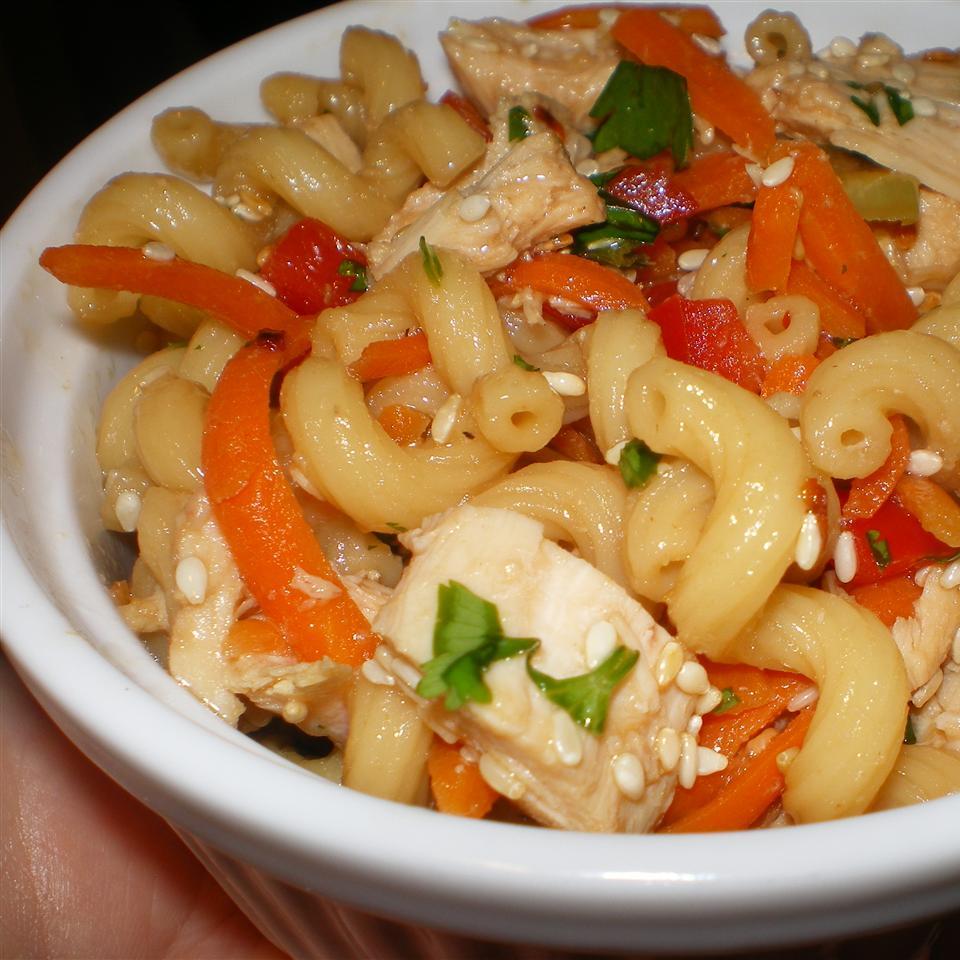 Sesame Pasta Chicken Salad Chez Sunfleur