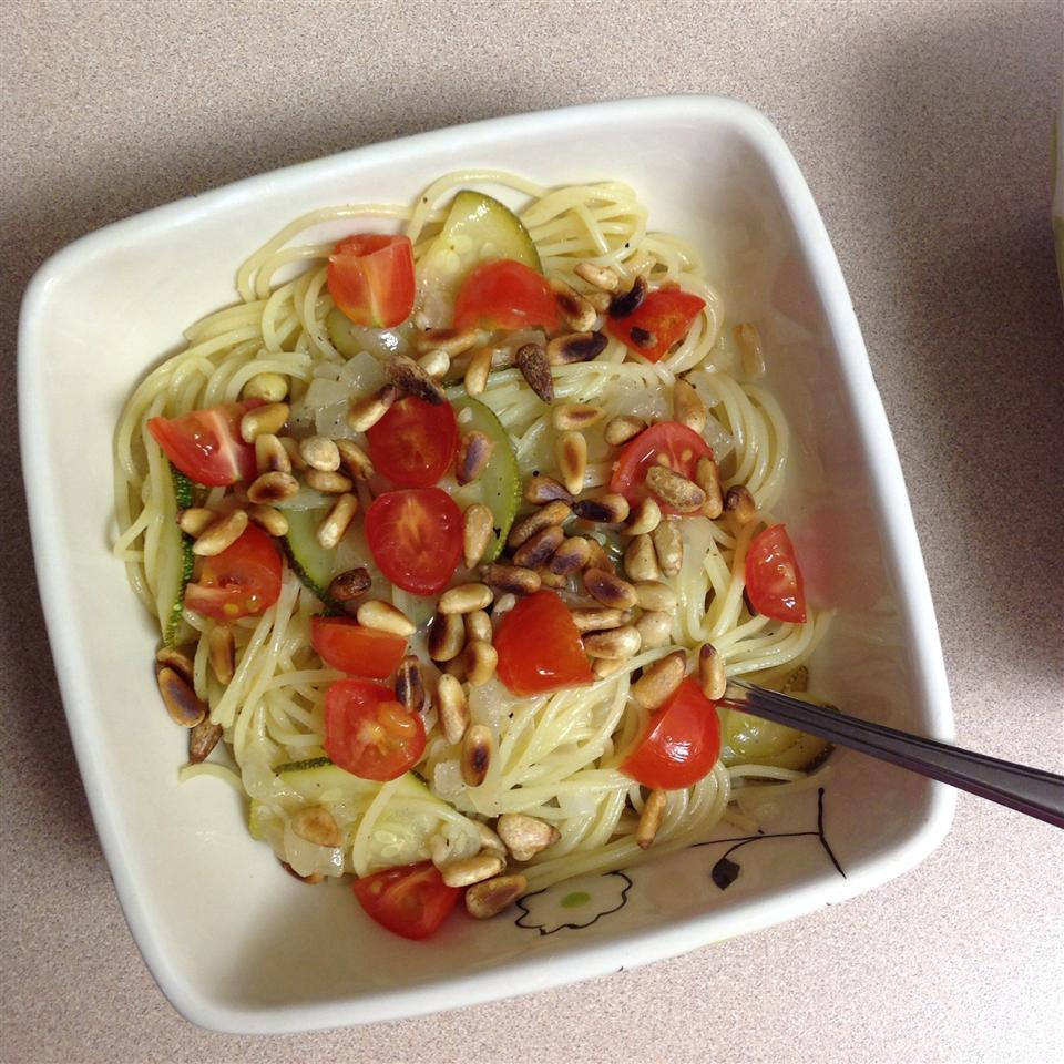 Zucchini Pasta with Pine Nuts