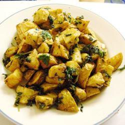 Cilantro and Garlic Potatoes Melody Scott