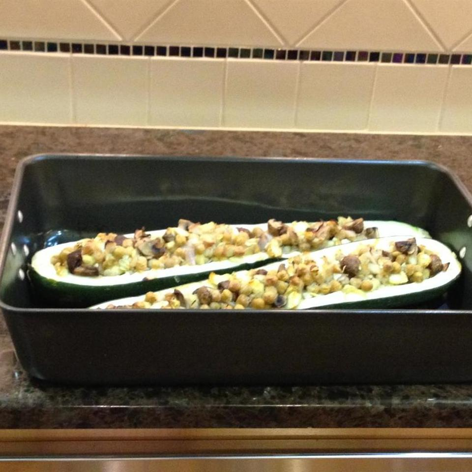 Zucchini with Chickpea and Mushroom Stuffing jsgyardley