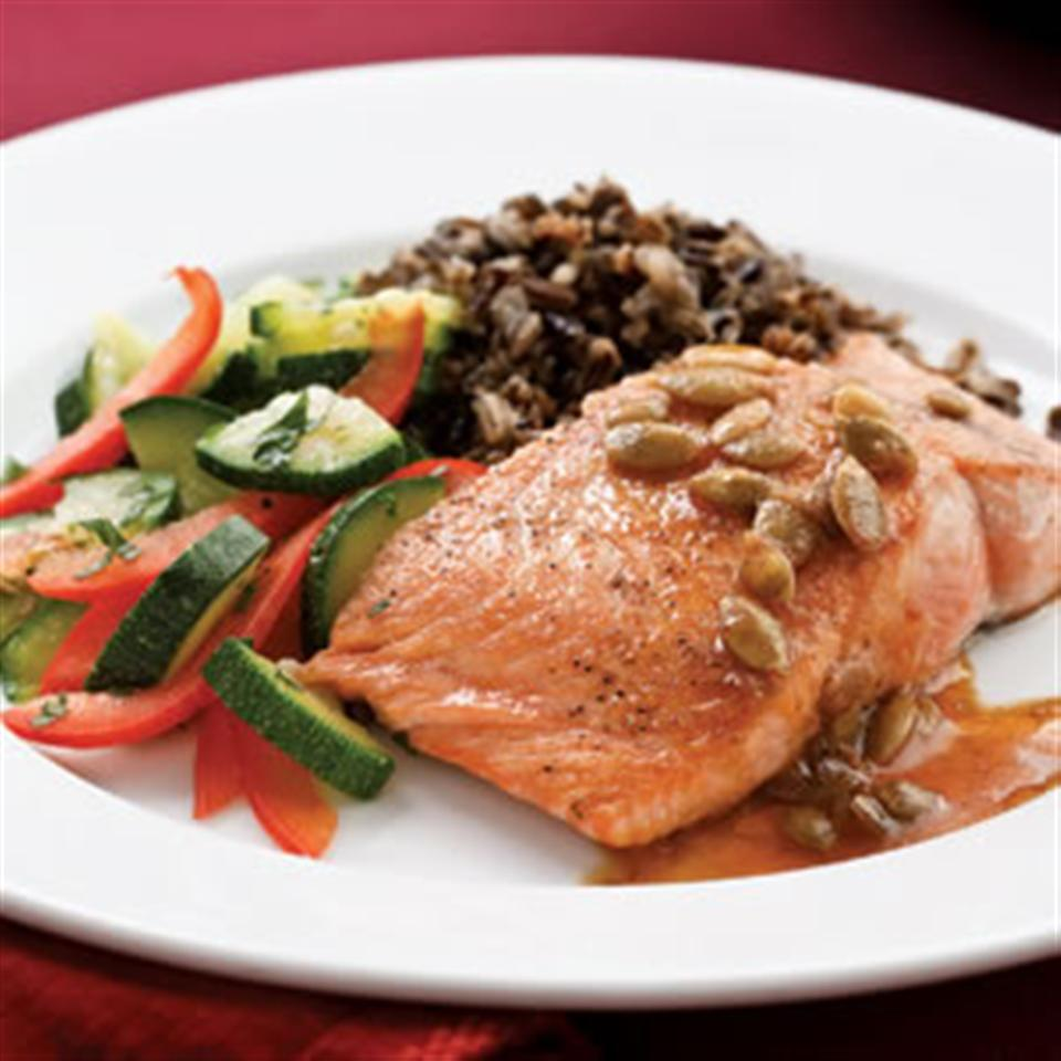 Salmon with Pepita-Lime Butter Trusted Brands