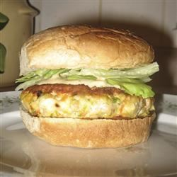 Delicious Ahi Fish Burgers with Chives ChristineM
