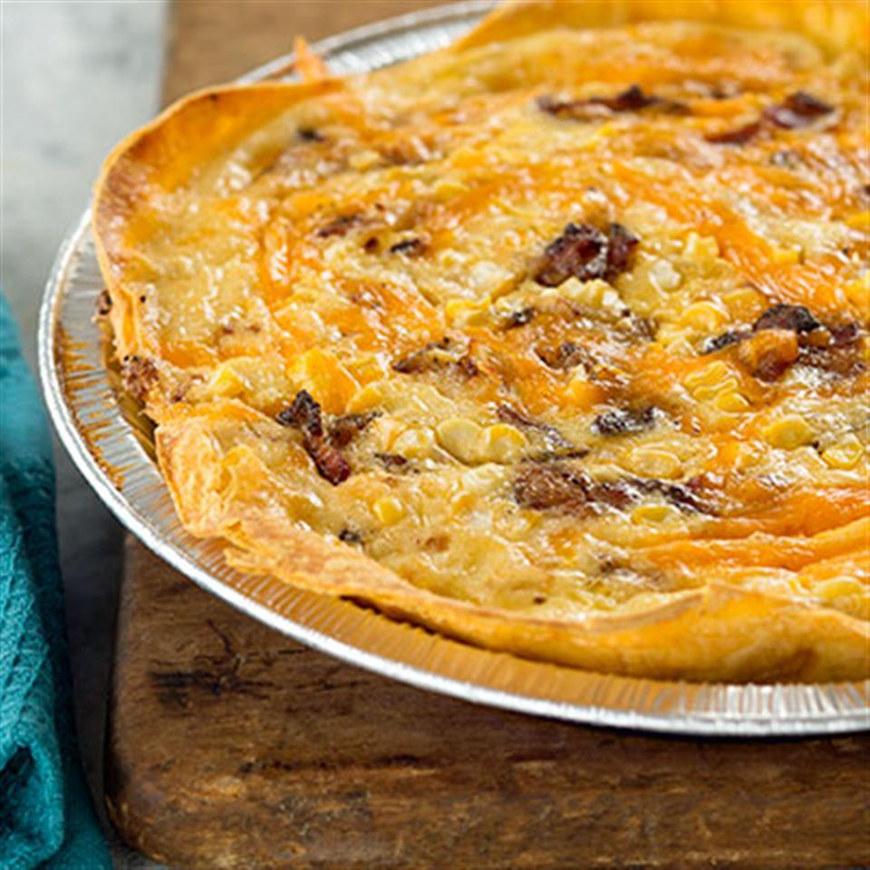 Bacon and Cheddar Cheese Quiche Trusted Brands