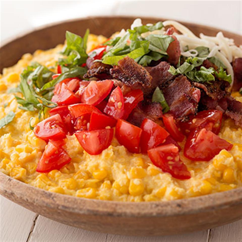 Tomato and Bacon Creamed Corn Casserole