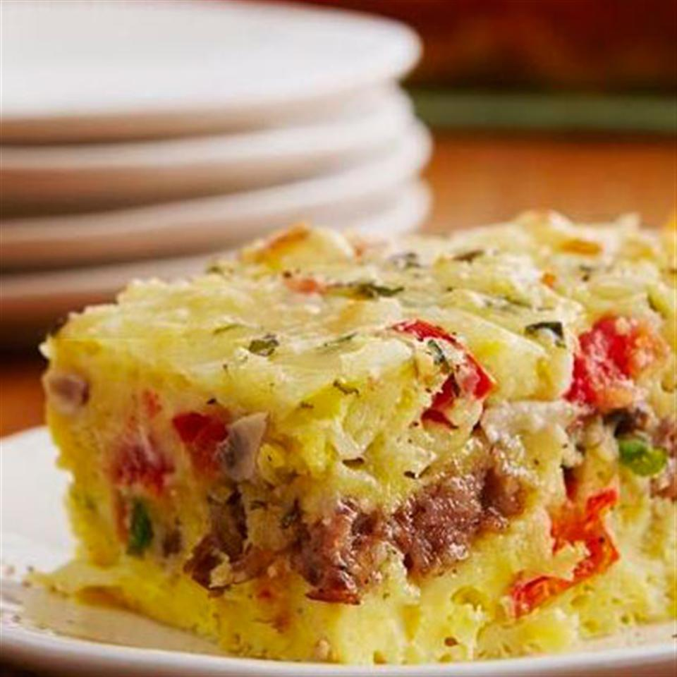 Cheesy Sausage and Egg Bake