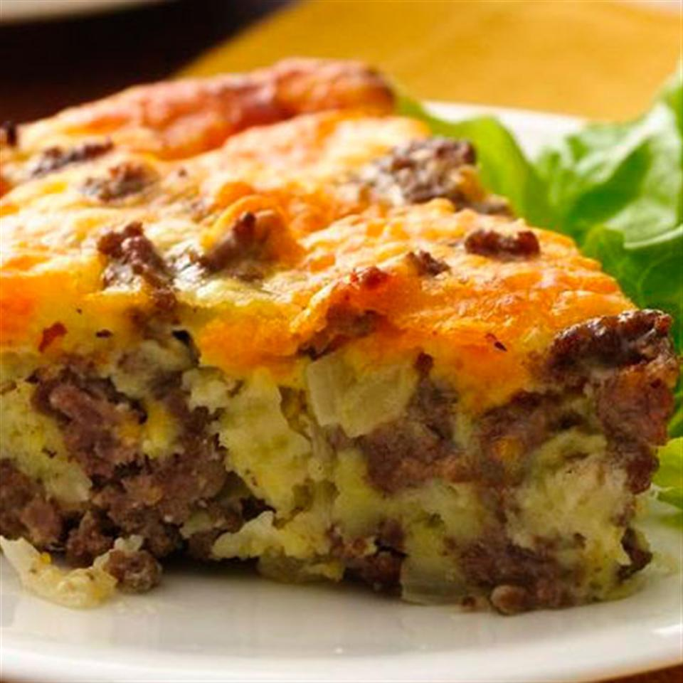 Gluten-Free Impossibly Easy Cheeseburger Pie Trusted Brands
