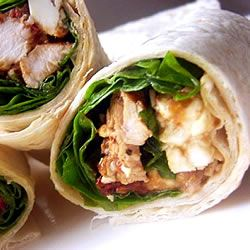 Chicken, Feta Cheese, and Sun-Dried Tomato Wraps SunFlower