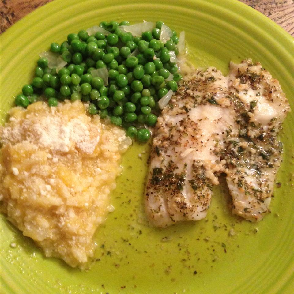 Herb Crusted Tilapia with Garlic Butter Tricia