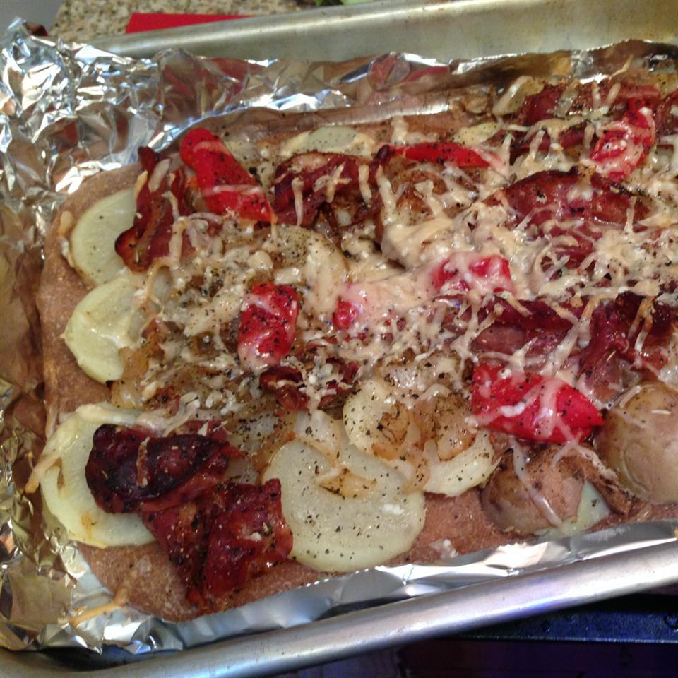 Prosciutto and Potato Pizza