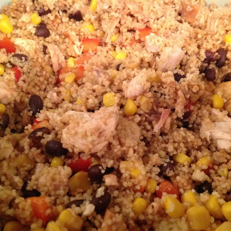 Couscous, Corn, and Black Bean Chicken Salad Cooking Fox