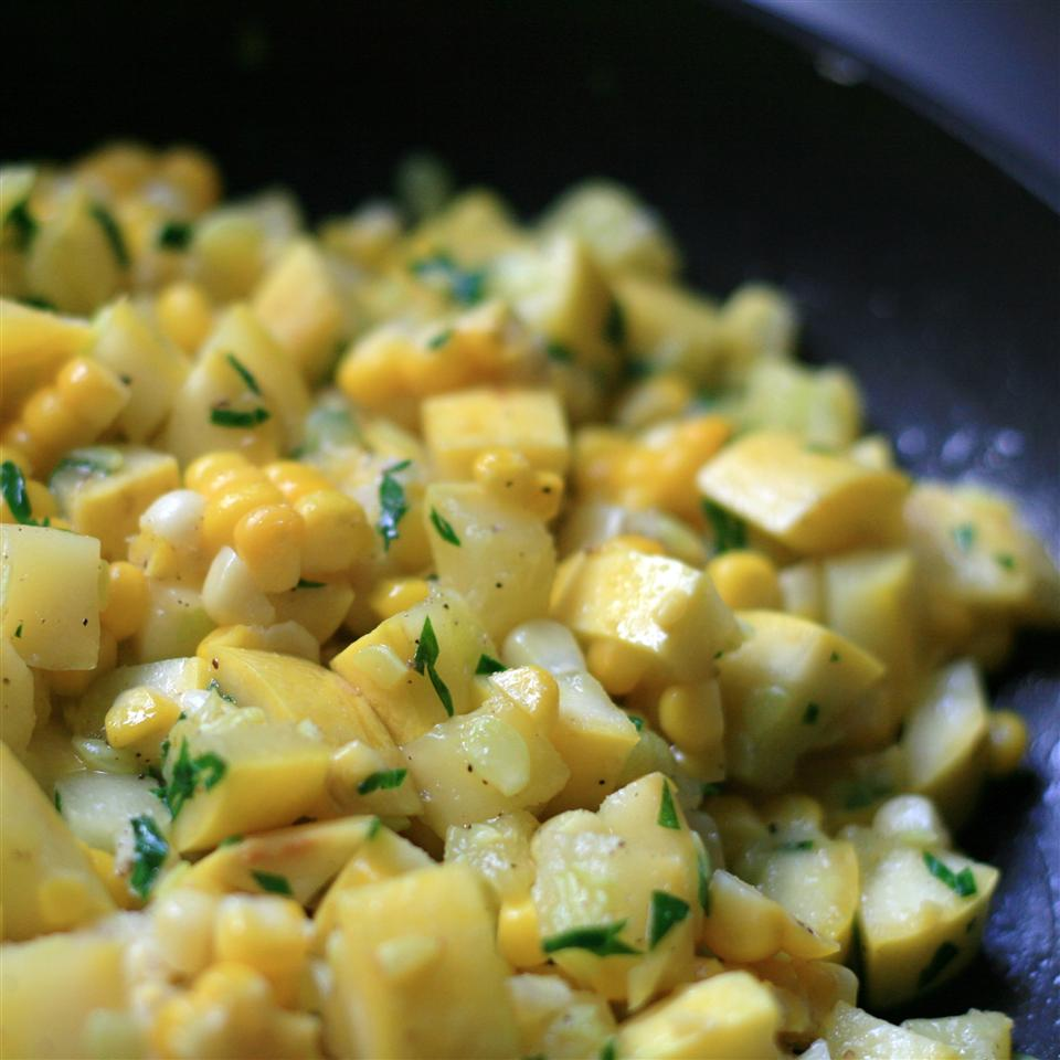 Yellow Squash and Corn Saute France C