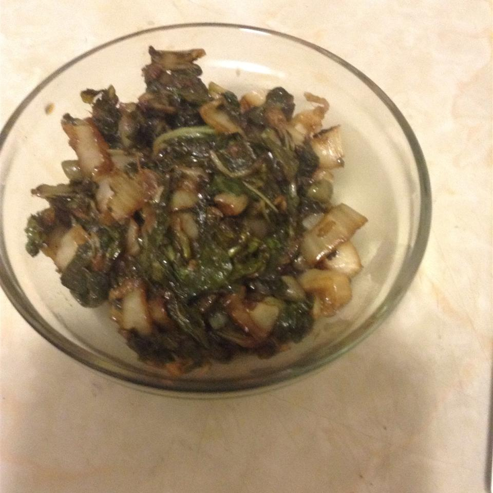 Balsamic Vinegar and Ginger Bok Choy Anonymous