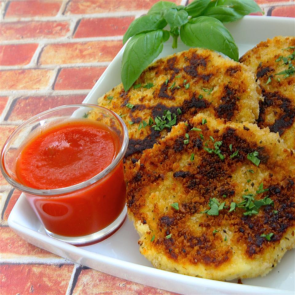 Panko Crusted Mashed Potato Cakes
