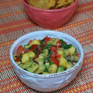 Refreshing Avocado Tomato And Mango Salsa Recipe Allrecipes