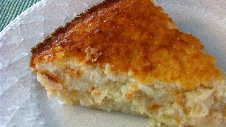 No Crust Coconut Pie