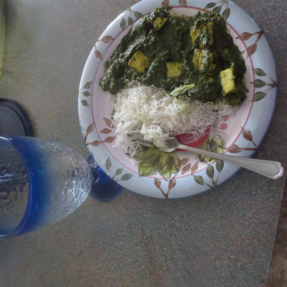 Palak Paneer (Spinach Curry) Lady at the Stove