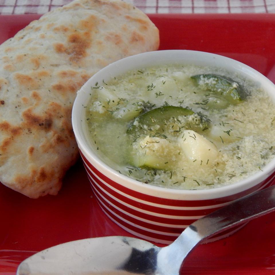 Dill-icious Zucchini Potato Soup