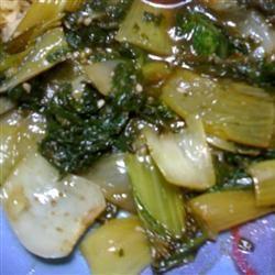 Balsamic Vinegar and Ginger Bok Choy cbmills