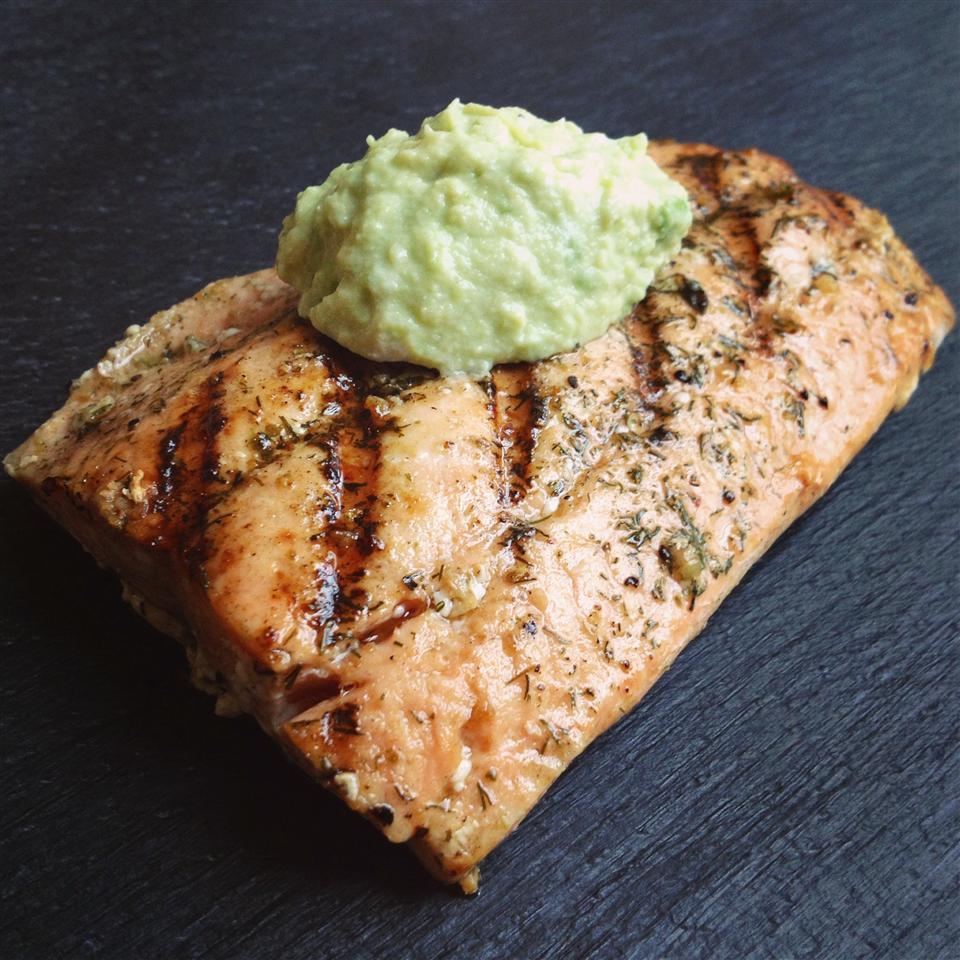 Grilled Salmon with Avocado Dip Jennifer Baker