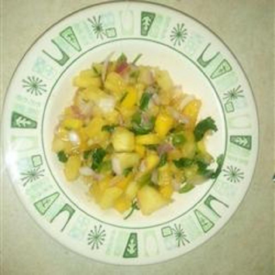 Pineapple and Mango Salsa Katie