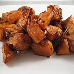 onion roasted sweet potatoes recipe