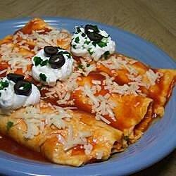 easy mashed potato and roasted vegetable enchiladas recipe