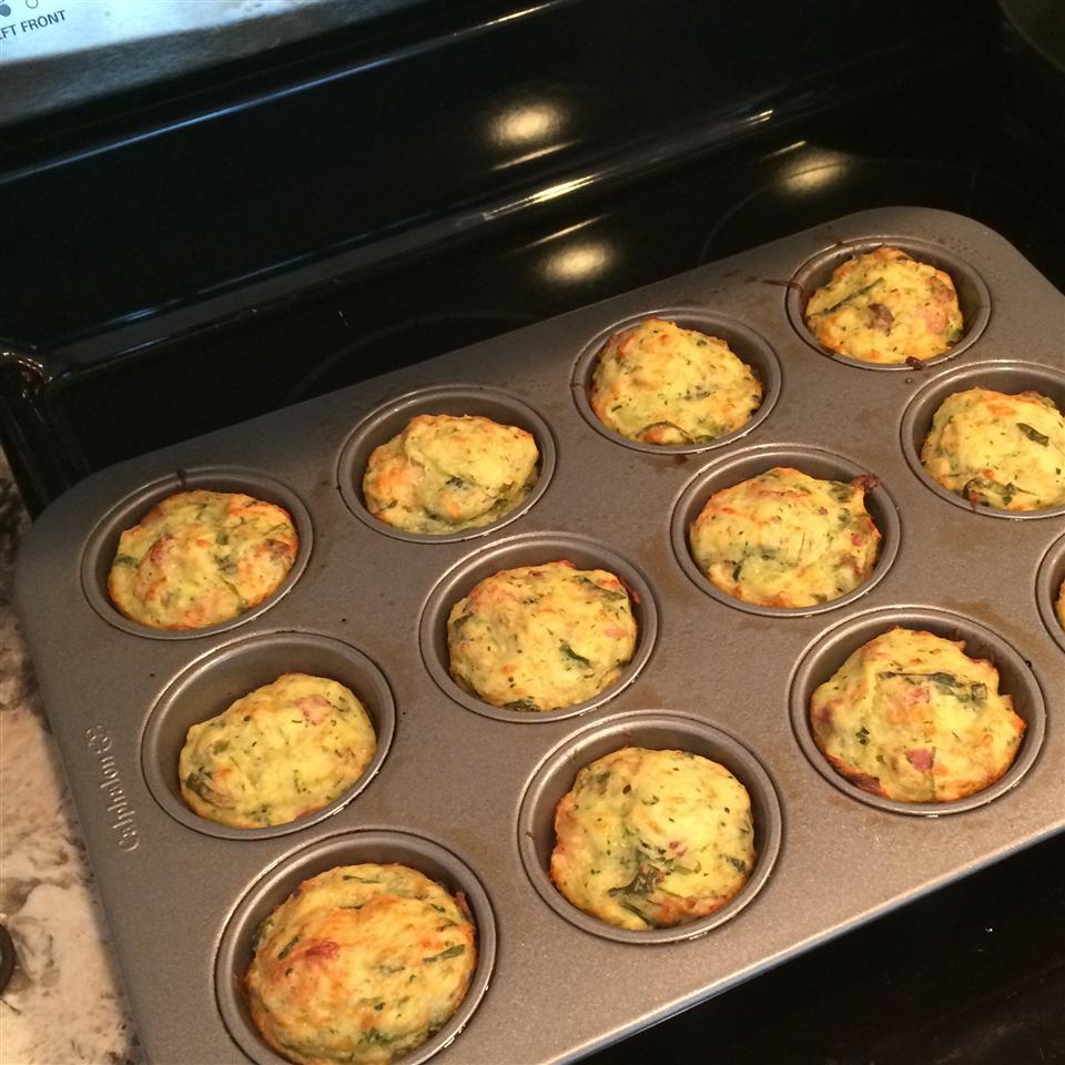 Savory Zucchini Chard Muffins acupernall