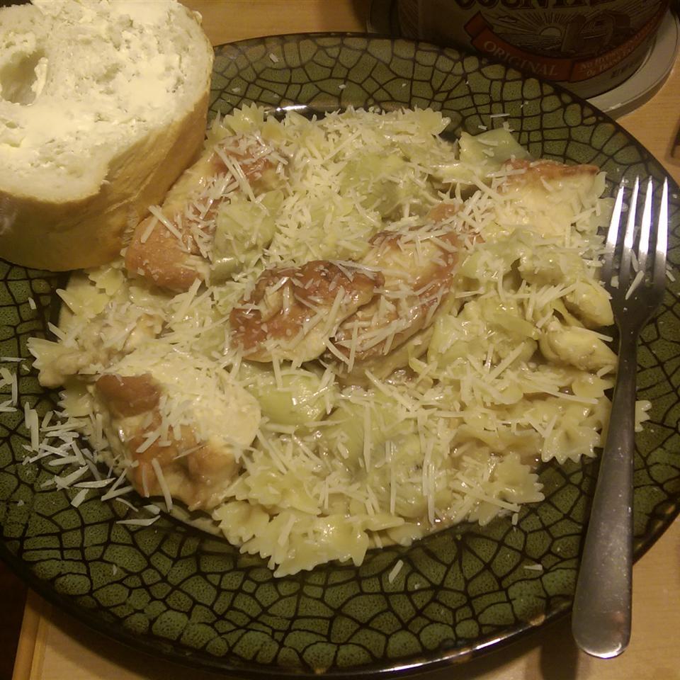 Lemony Chicken with Artichoke Hearts fimommy06