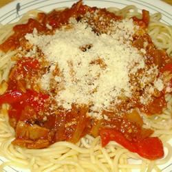 Delicious Angel Hair in Tomato, Tuna and Olive Sauce Gracey