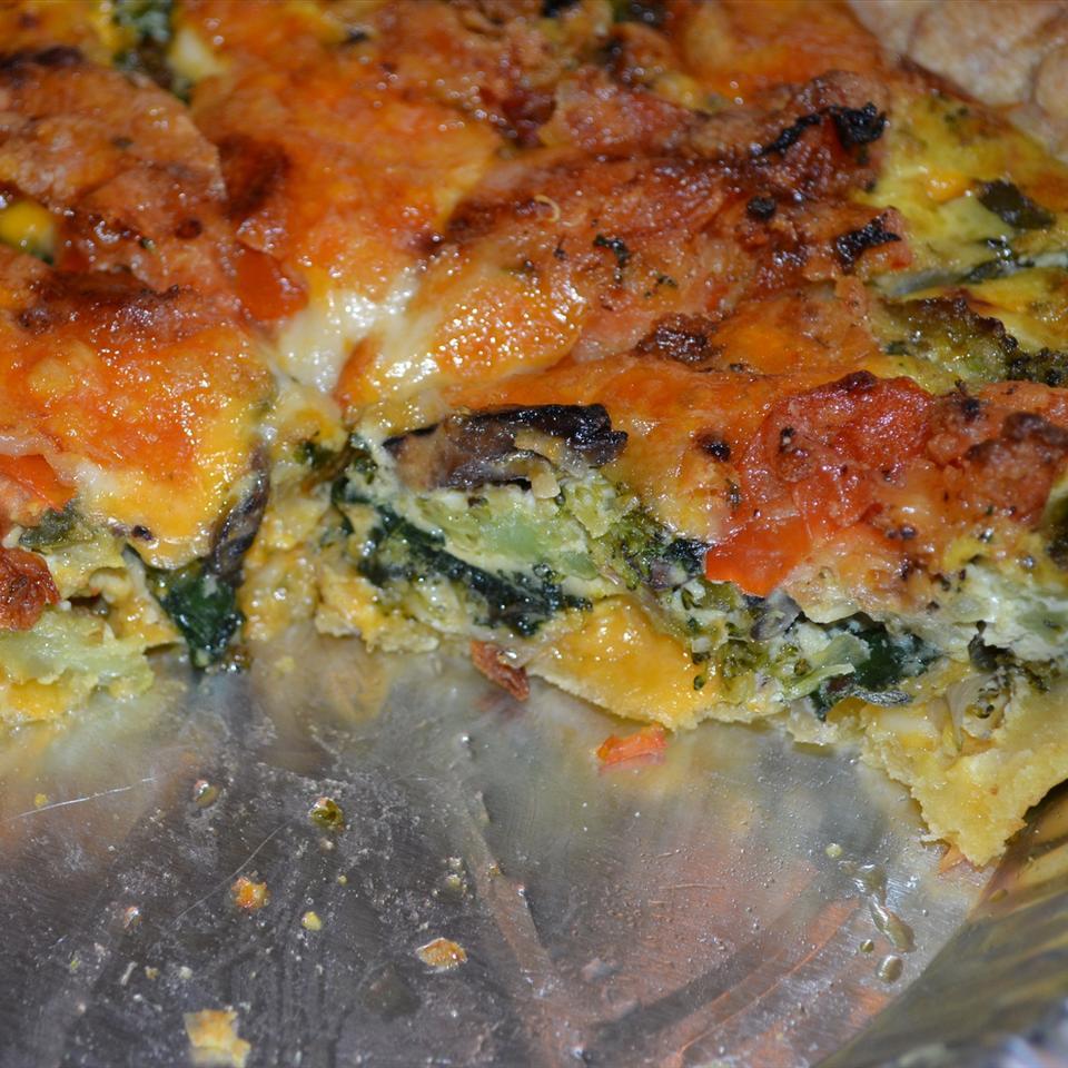 Loaded Vegetarian Quiche