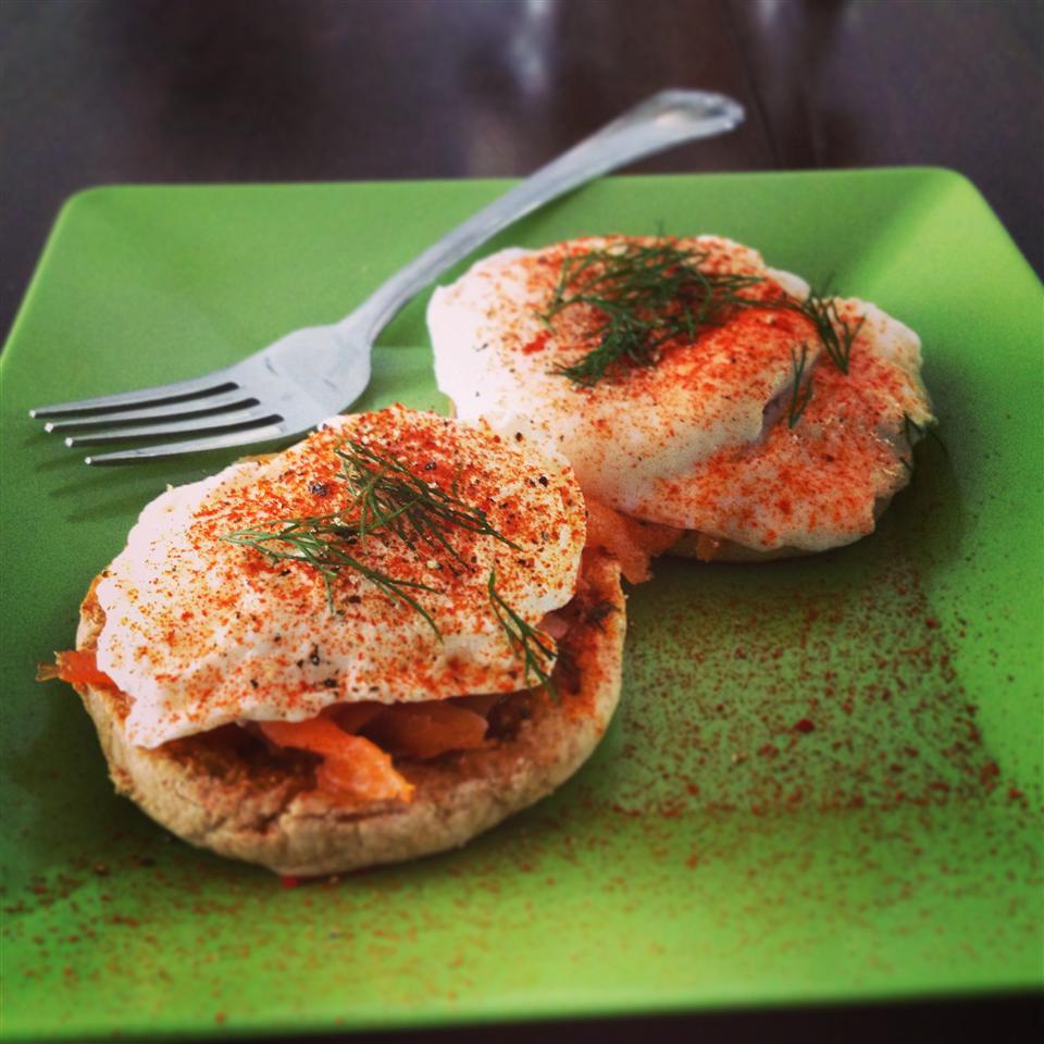 Smoked Salmon Dill Eggs Benedict RedBeanSean