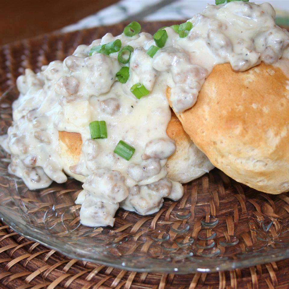 Italian Sausage Gravy and Biscuits