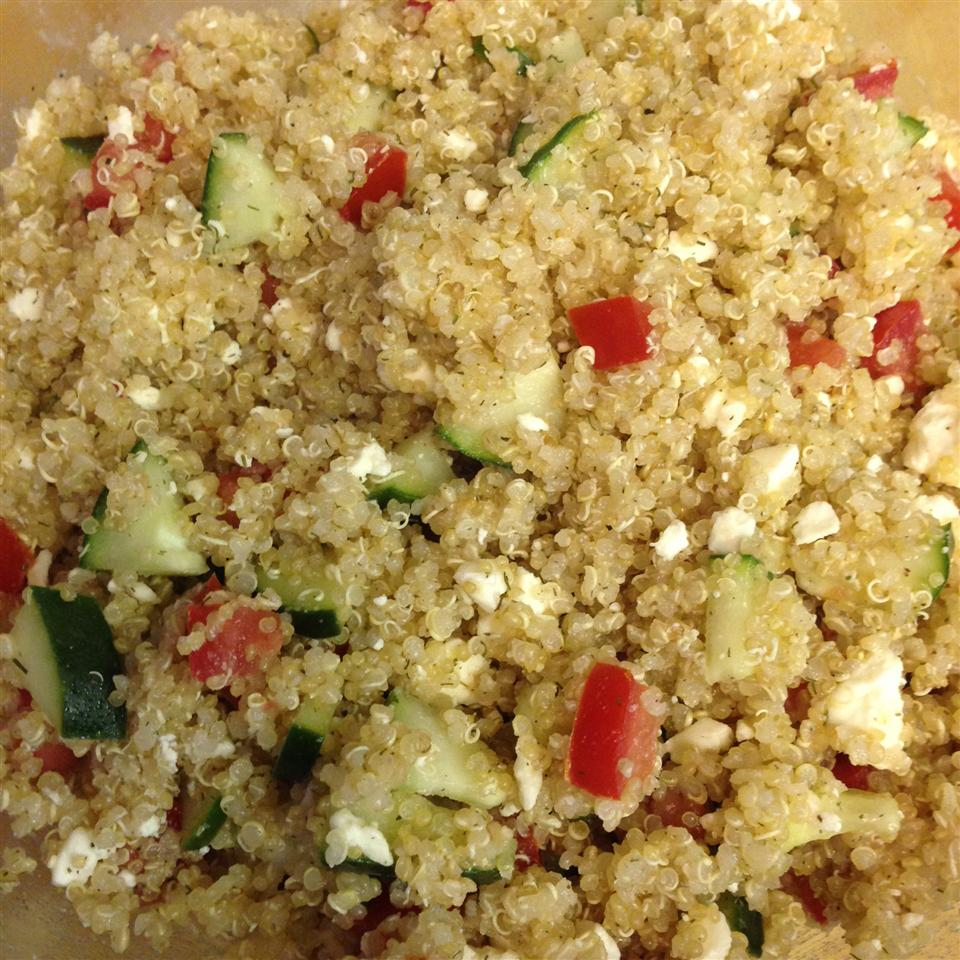 Quinoa Summer Salad with Feta cathy