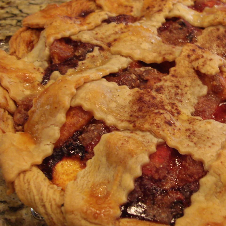 Summer is Here Triple Berry Peach Pie Sandy G.