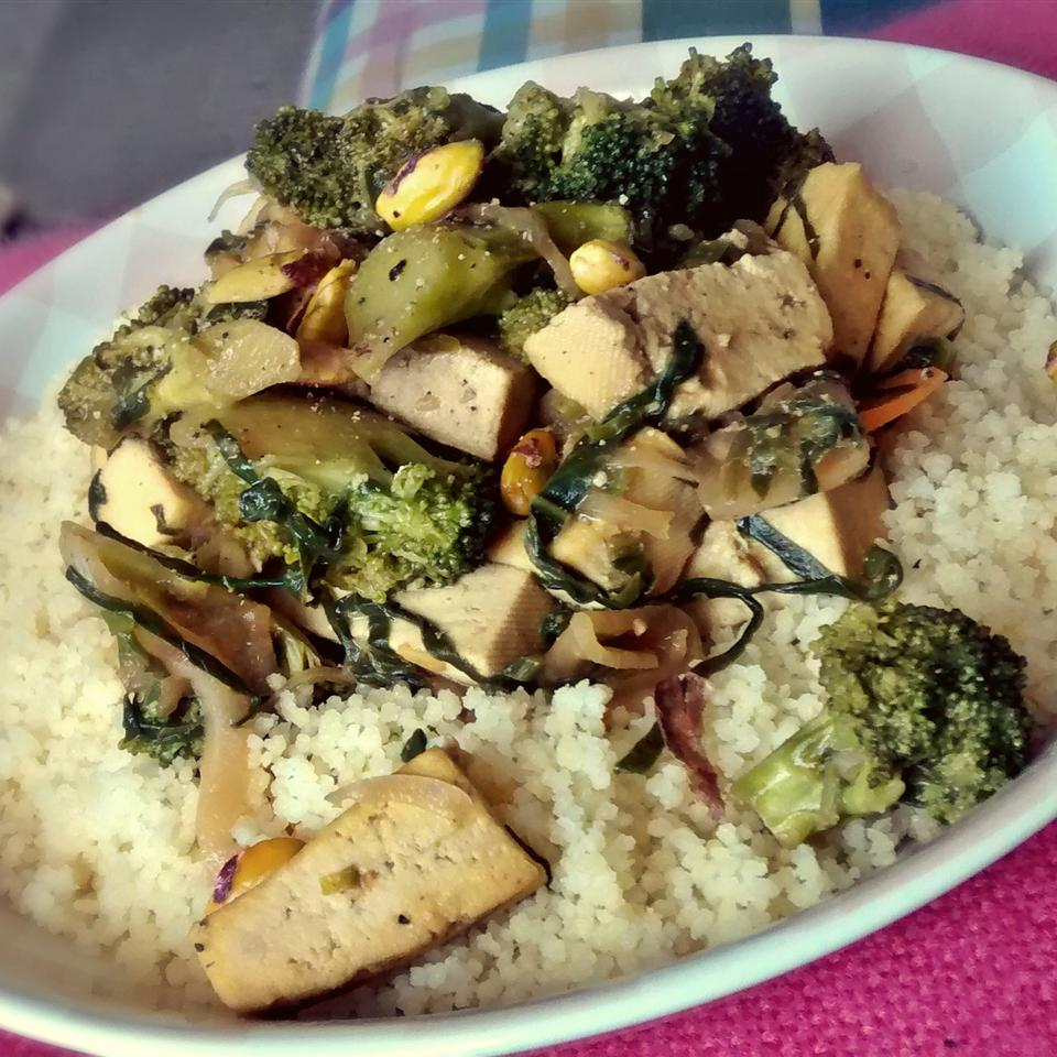 Tofu and Vegetables Stir-Fry with Couscous