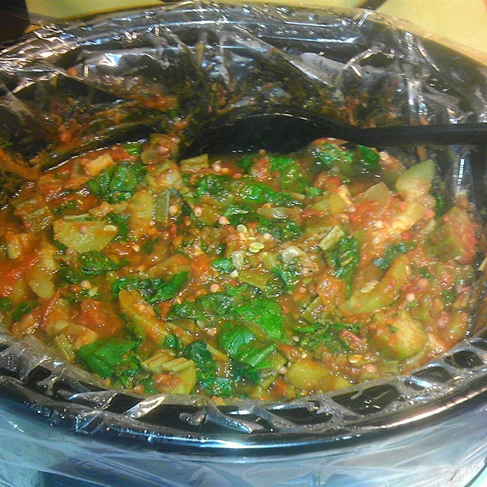 Vegetarian Pumpkin Spinach Chili sbsandy79