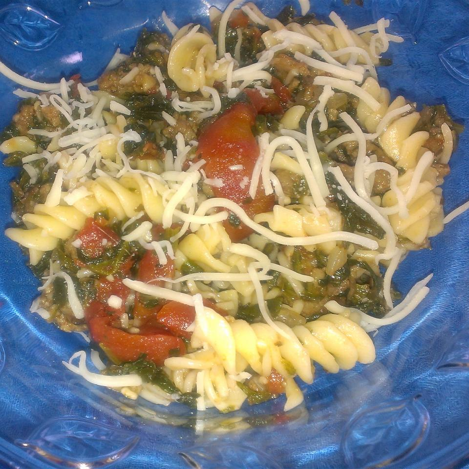 Tomato, Spinach, and Cheese Pasta StickySue