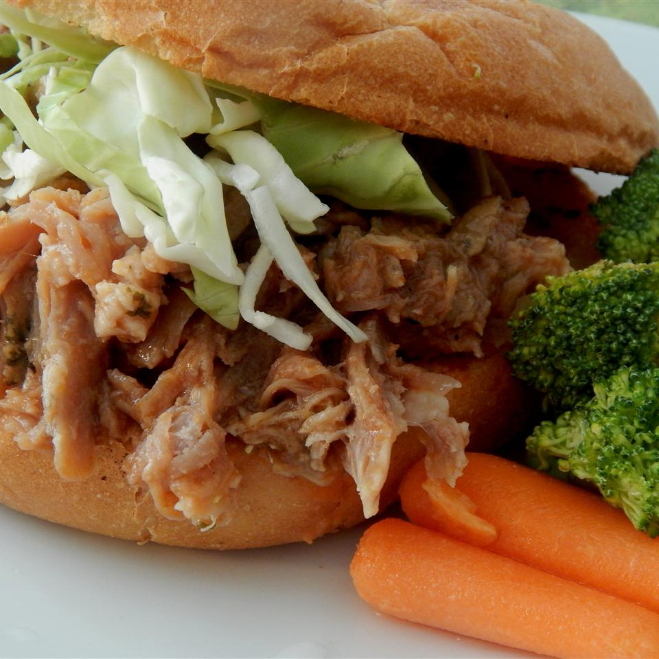 "This slow-cooker pulled pork recipe features pork shoulder roast, a little ketchup, brown sugar, and red wine vinegar. So easy, it takes just minutes to prep. ""I got this from a North Carolina native and it is the best,"" says skibunny2k. ""It is pretty much foolproof."""